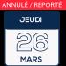 JEUDI 26 MARS